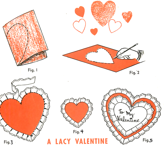 Laced Valentine S Day Cards Paper Laced Valentines Day Hearts