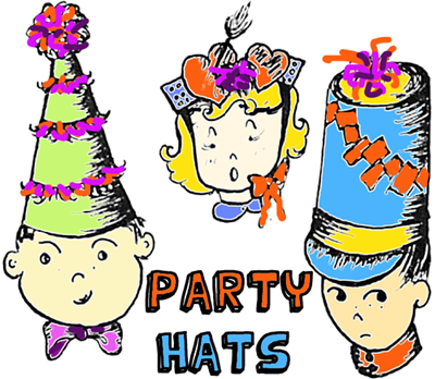 Making Party Hats for New Years Eve Parties