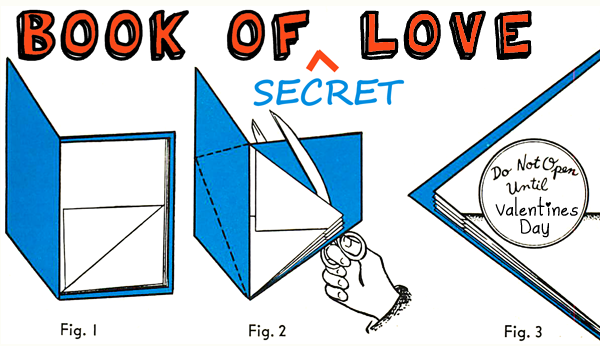 making secret book of love for valentine's day - who do you love, Ideas