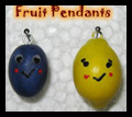 Fruit Clay Pendants for Necklaces