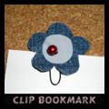Clip Flower Bookmarks
