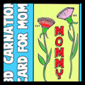 Mother's Day Carnations Card