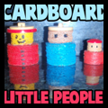 Cardboard Little People Doll House Figures