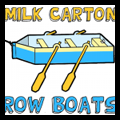 Milk Carton Row Boats