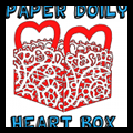 Make Paper Doily Valentine's Day Boxes