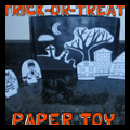 Trick or Treaters Paper Toy