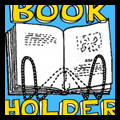 Clothes Hanger Book Holders