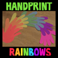 Handprint Rainbows for Saint Patrick's Day