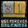 Making Foldable Boxes Perpetual Calendars