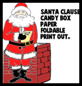 Santa Clause Foldable Candy Box