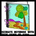 Yarn Decorated Notebooks or Binders