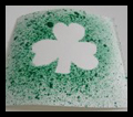 Splatter Painted Shamrocks cards