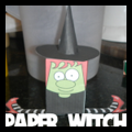 Foldable Paper Witch Toy