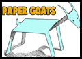 Stand up paper goats