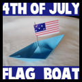 4th of July Patriotic Paper Boats