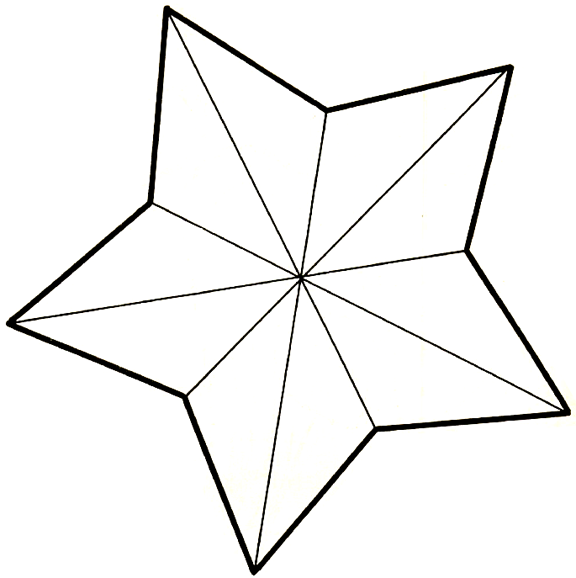then cut the paper star out then fold on the inner lines of the star you will see that the star now looks 3 dimensional you can either paint or color the - Art Templates For Kids