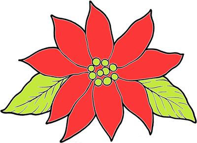 Christmas Poinsettias Crafts for Kids : Make Xmas Poinsettias Arts ...