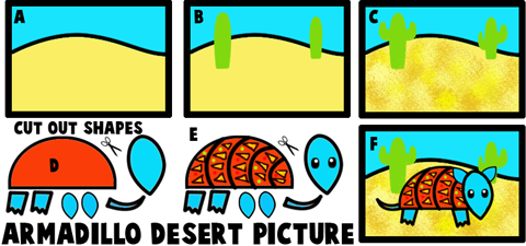 Armadillo in the Desert Picture