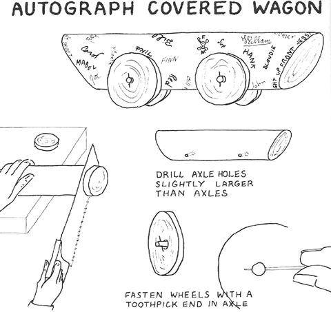 How To Make Autographed Log Wagons For Kids Summer Camp