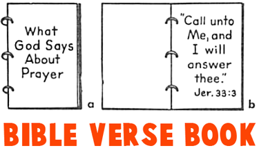 Making a Bible Verses Book