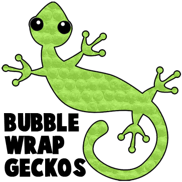How to Make a Bubble Wrap Gecko Picture