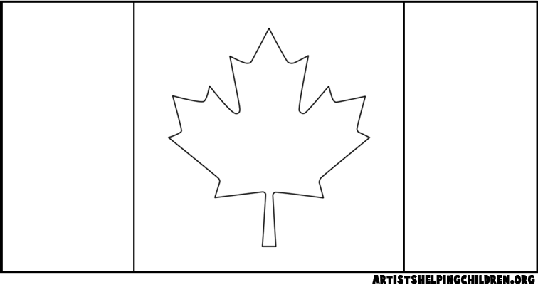 Maple Leaf Canadian Flag Colouring Pages