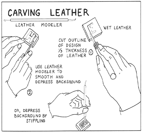 Carving the Leather