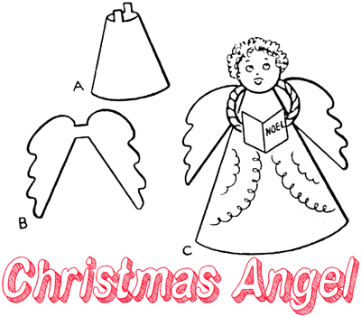 Angel crafts for kids ideas for arts crafts activities for Angel tree decoration template