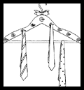Clothes Hanger Tie Racks