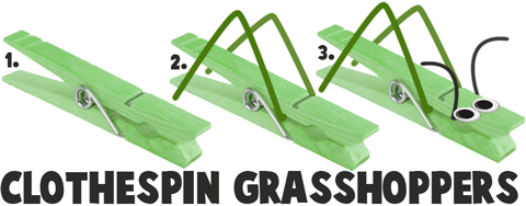 How to Make Clothespin Grasshoppers