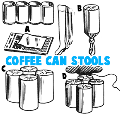 How to Make Coffee Can Stools