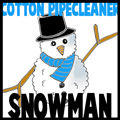 Cotton Pipecleaner Snowman