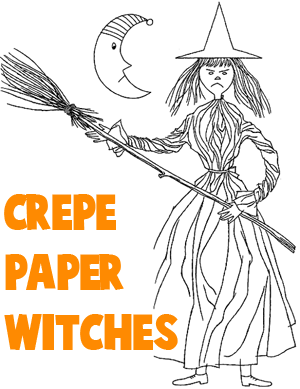 How to Make Crepe Paper Witches