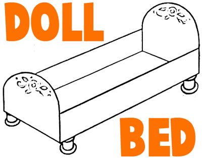 HOW TO MAKE BABY DOLL CRIBS or BEDS