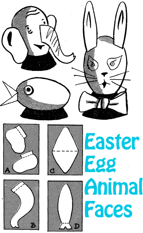 Easter Egg Animal Faces
