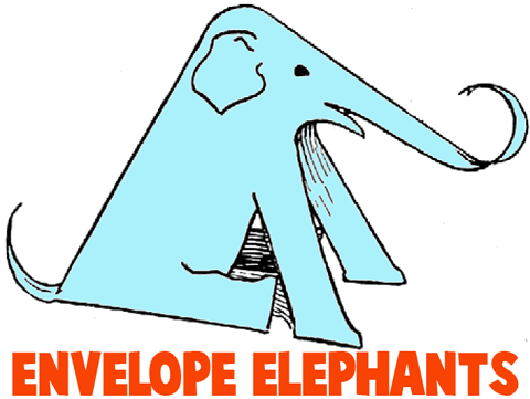 Elephant crafts for kids easy instructions to make elephants with how to make elephants with paper envelopes maxwellsz
