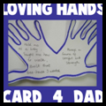 Open Hands Fathers Day Card