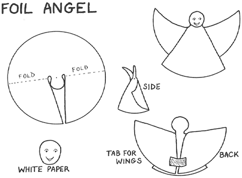 Foil Angels Craft for Kids - Learn how to make foil paper christmas ...