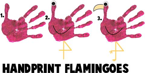 cartoon flamingos