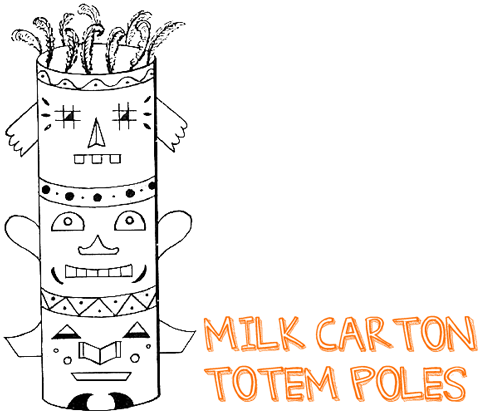 HOW TO MAKE MILK CARTON TOTEM POLES