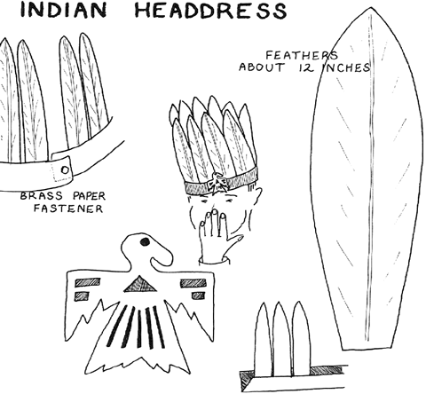 How to make native american indian headdress for kids for Indian hat template