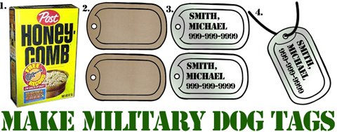 Making Military Dog Tags