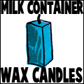 Milk Container Wax Candles