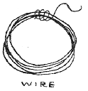 Wire, heavy thread or string may be used to suspend ornaments