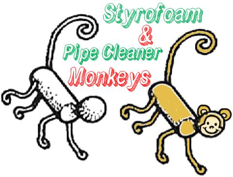 Styrofoam And Pipe Cleaner Monkeys