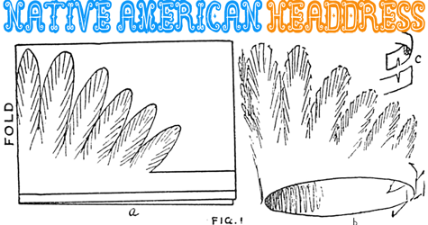 Thanksgiving indian crafts for kids make native american for Indian hat template