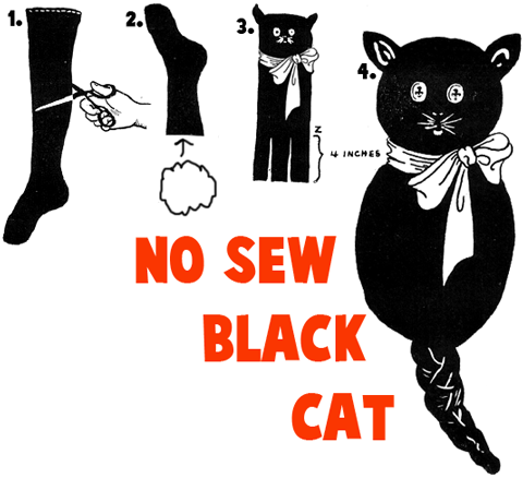 How to Make a No-Sew Black Cat
