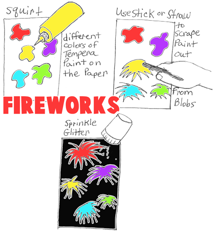 Painting Fireworks that Look Real