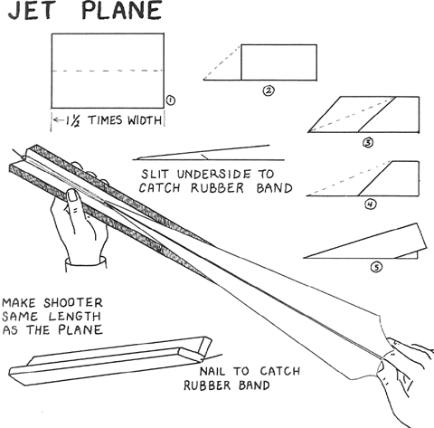 How to Make Paper Airplane Shooters for Kids : Paper Airplanes ...