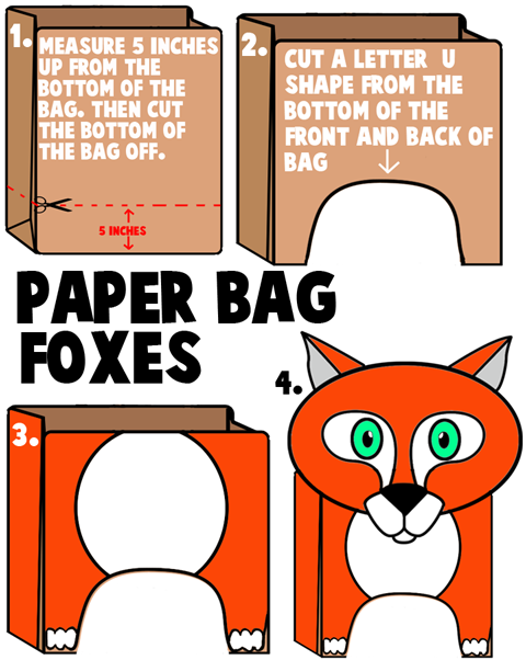 Brown Paper Bag Foxes